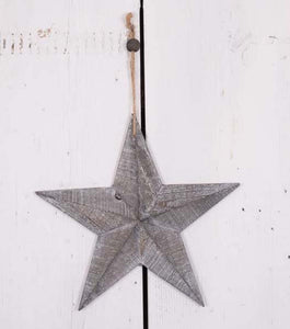Grey Wash Wooden Barn Star Small - Triftware