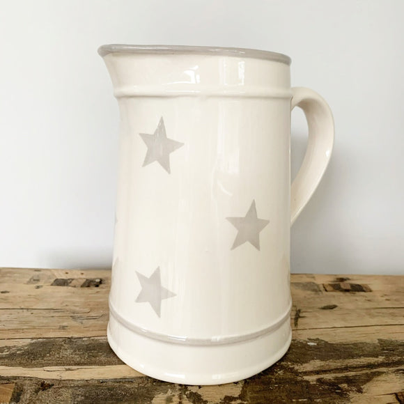 Grey Star Ceramic Jug - Triftware