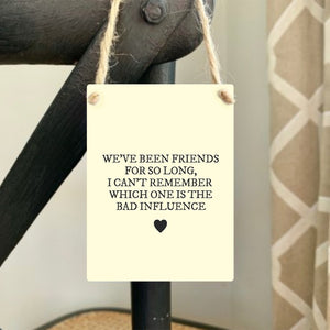 Friends For So Long Mini Metal Sign - Triftware