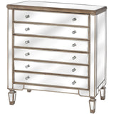Belfry Collection Six Drawer Mirrored Chest - Triftware