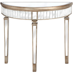 Belfry Collection Half Moon Mirrored Table - Triftware