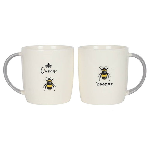Queen Bee & Bee Keeper Mug Set - Triftware