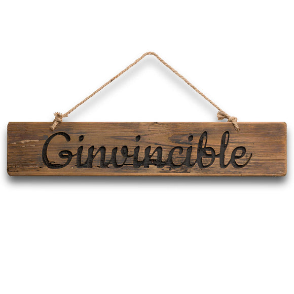 Ginvincible Rustic Wooden Plaque - Triftware