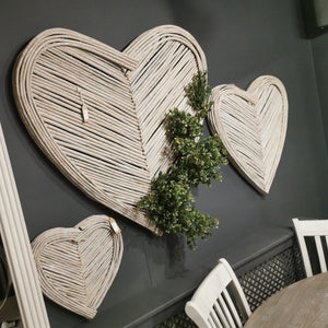 Medium Heart Wicker Wall Art - Triftware