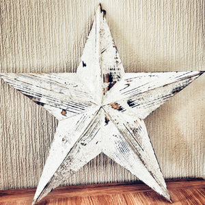 Wooden Barn Star, White, Extra Large - Triftware