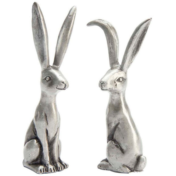 Rustic Silver Bunny Ring Holders - Triftware