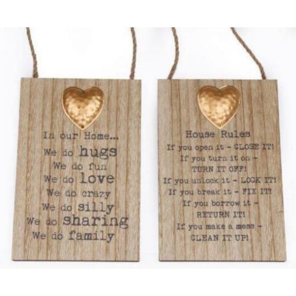 Hanging Metal Heart Plaques - Triftware