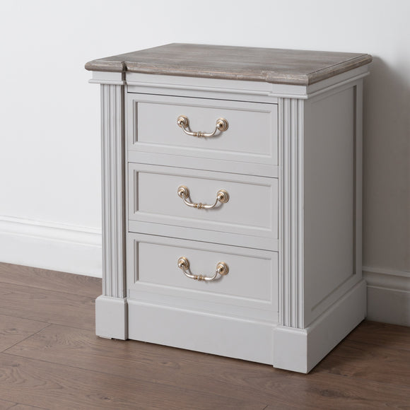 The Liberty Collection Three Drawer Bedside - Triftware