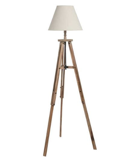 Large Wooden Tripod Lamp - Triftware