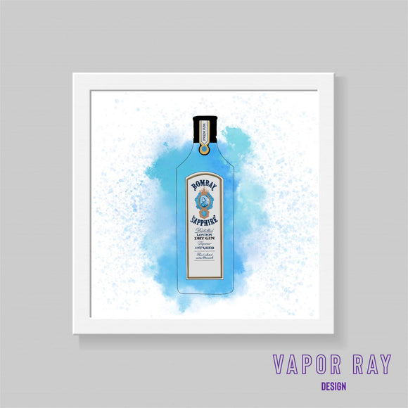 Bombay Sapphire Gin Print - Triftware