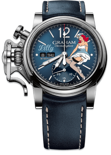 GRAHAM CHRONOFIGHTER VINTAGE NOSEART LILY 2CVAS.U05A.L129S