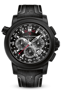 CARL F. BUCHERER TRAVELTEC BLACK 00.10620.12.33.21
