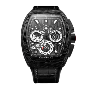 FRANCK MULLER VANGUARD GRAND DATE CARBON SKELETON V45 CC GD SQT