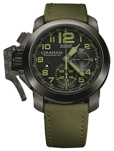 GRAHAM CHRONOFIGHTER OVERSIZE GREEN AMAZONIA 2CCAU.G01A.T15N