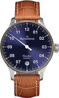 MEISTERSINGER CIRCULARIS AUTOMATIC WITH GOLD BEZEL CC908LG