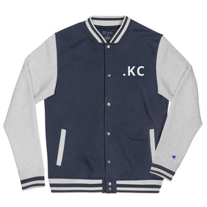 The  KC Embroidered Champion Bomber Jacket - HUSTLEKC