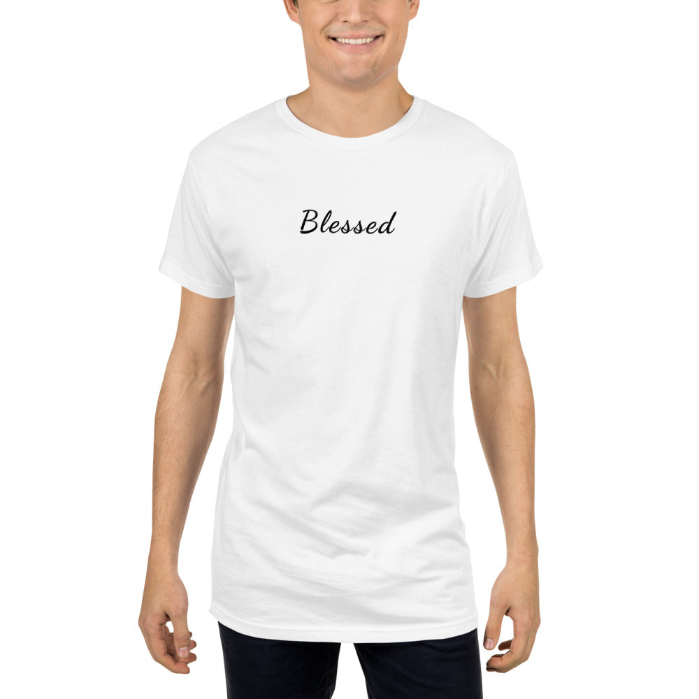 Blessed Long Body Urban Tee - HUSTLEKC