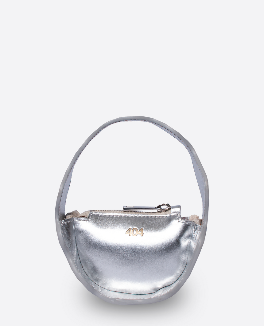 Mini Bolso plata · The Mountain · 404 STUDIO x BELFRY