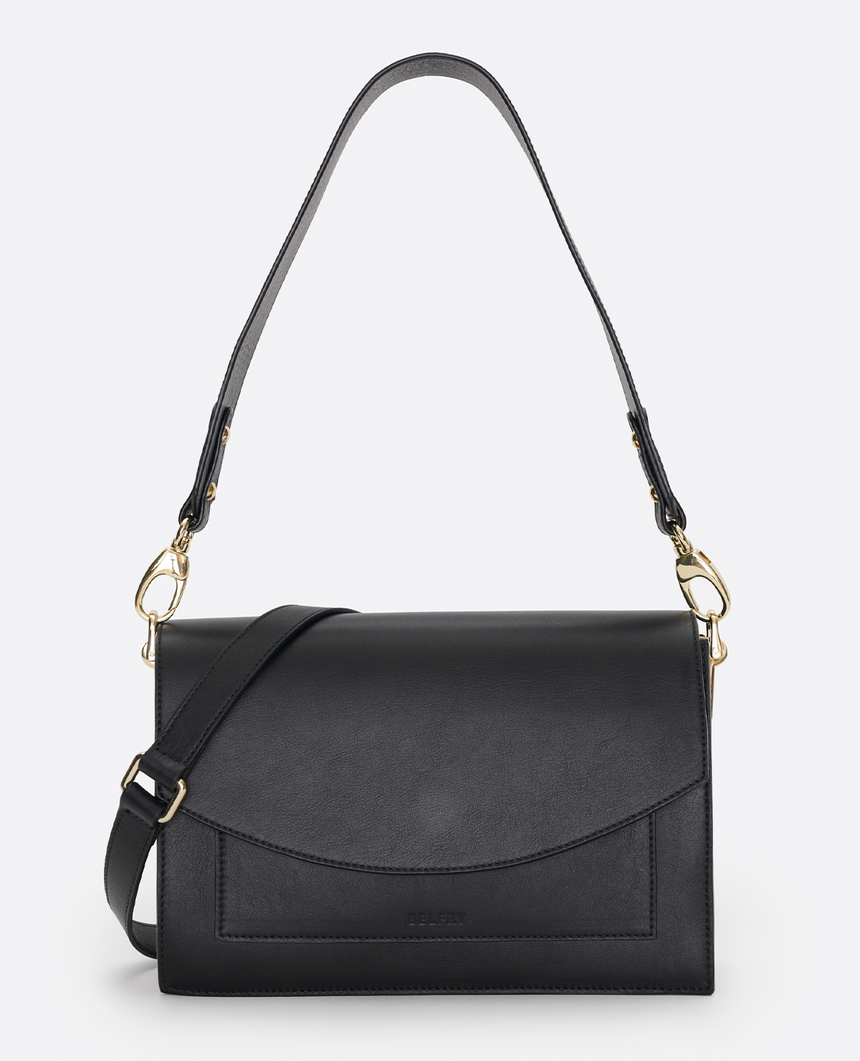 Mini bolso de piel negro · The Barbara #S