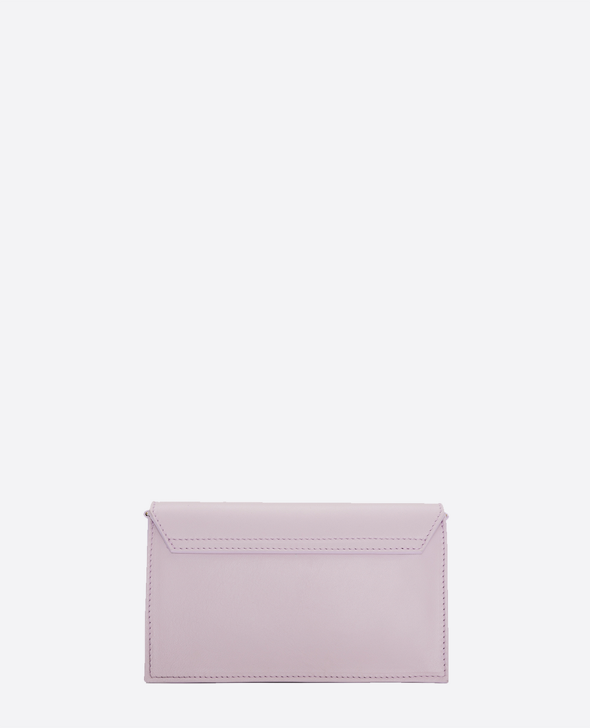 Mini bolso de piel lavanda · The Barbara #S