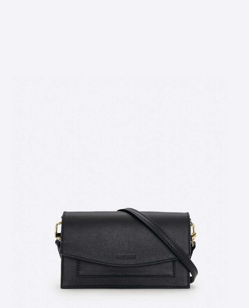 Mini bolso de piel negro · The Barbara #S - Belfry