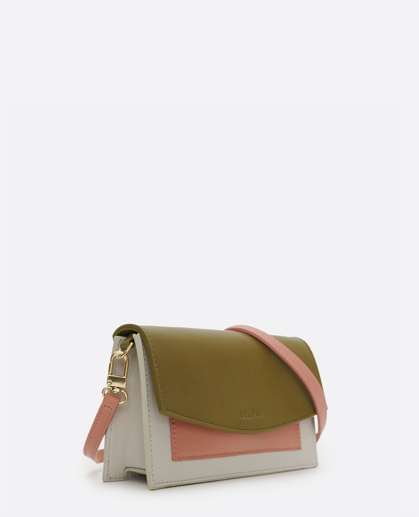 Mini bolso de piel verde · The Barbara #S - Belfry
