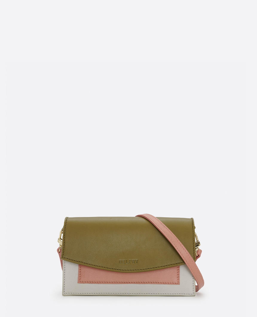 Mini bolso de piel verde · The Barbara #S