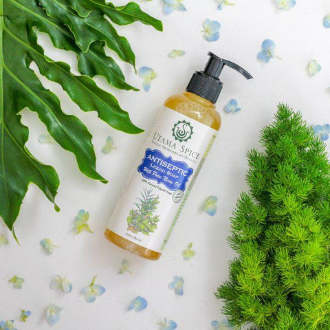 all natural liquid soap made with cold-pressed coconut oil, castor oil and essential oils. contains naturally antibacterial neem essential oil.