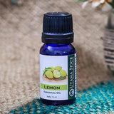 Lemon pure essential oil, natural, organic, citrus, peel, fresh, disinfect, antibacterial, aromatherapy, energizing, zing