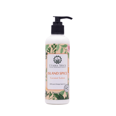 all natural body moisturizer, island spice coconut lotion