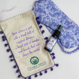 Perfect gift for those battling with sleep. Lavender sleep spray made and hand sewn eye mask. Sweet Dreams Gift Set.