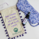 Lavender sleep spray made and hand sewn eye mask. Sweet Dreams Gift Set. Helps with insomnia.