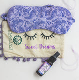 Natural sleep remedy. Lavender sleep spray made and hand sewn eye mask. Sweet Dreams Gift Set. Best Natural Lavender sleep spray made and hand sewn eye mask. Sweet Dreams Gift Set.