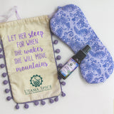 Lavender sleep spray made and hand sewn eye mask. Sweet Dreams Gift Set.