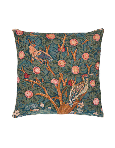 Woodpecker Tapestry Cushion (Medium)