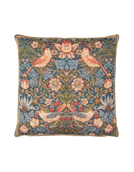 Strawberry Thief Tapestry Cushion (medium)