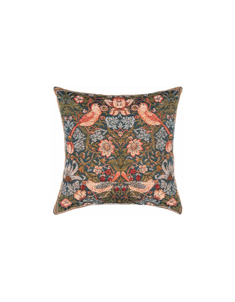 Strawberry Thief Tapestry Cushion (small)