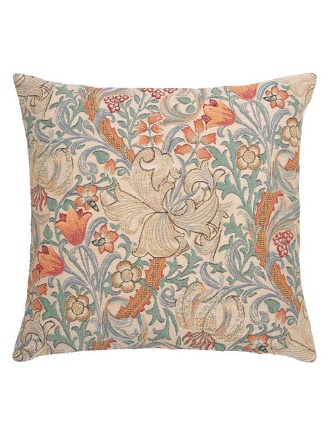 Golden Lily Pastel Tapestry Cushion (Large)