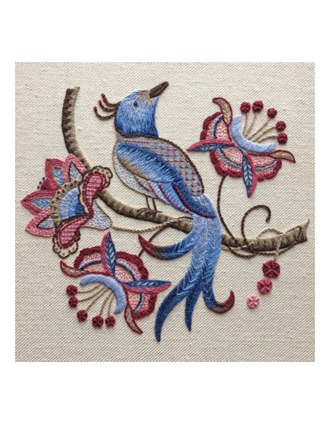 Bird of Paradise Crewel Work Embroidery Kit - Intermediate