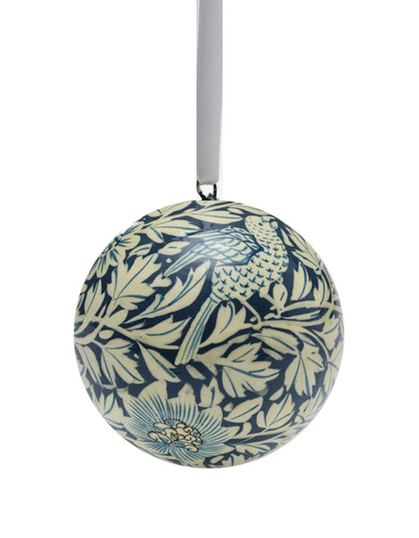 Handmade Papier-maché Bird and Anemone Bauble