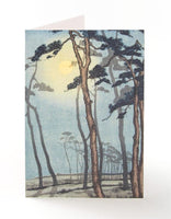 Bournemouth in Moonlight Greetings Card