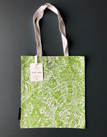 Green 'Indian' Screen Print Tote Bag