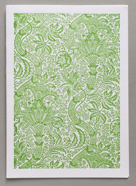 William Morris Letterpress - Indian (green)