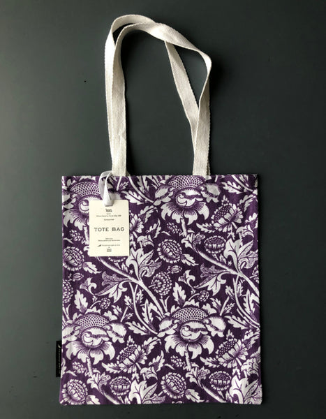 Purple 'Wey' Screen Print Tote Bag