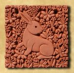 Decorative Terracotta Wall Tile - Rabbit