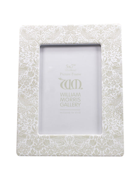 Strawberry Thief Grey 5x7 Ceramic Photo Frame