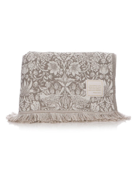 Strawberry Thief Grey Throw