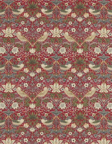 Strawberry Thief Fabric (Crimson - 1 metre)