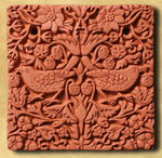 Decorative Terracotta Wall Tile - Strawberry Thief