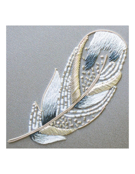 Swan Feather Metalwork Embroidery Kit - Intermediate